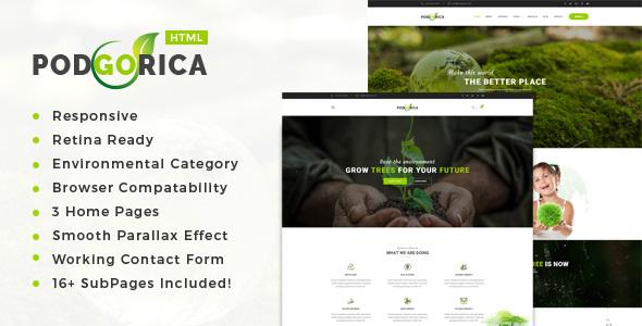 Podgorica – Environment / Non-Profit HTML Template