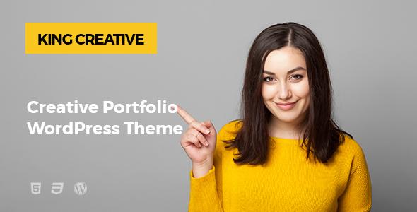 King Creative - Creative Portfolio WordPress Theme