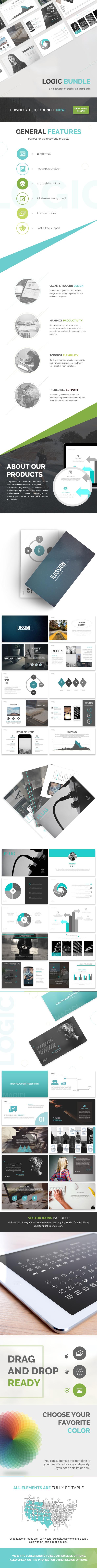 Logic Bundle - 3 in 1 - PowerPoint Templates Presentation Templates