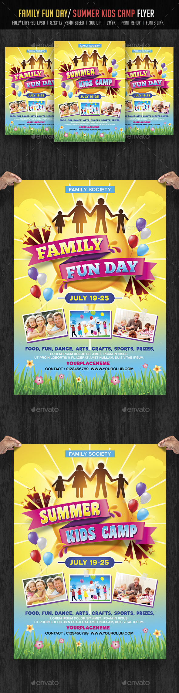 Family Fun Day/ Summer Kids Camp Flyer