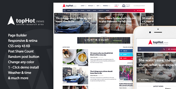 topHot - WordPress News / Magazine / Newspaper Theme - News / Editorial Blog / Magazine