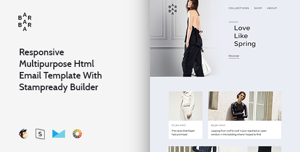 Barbara – Responsive Multipurpose Email Template + Stampready Builder - Email Templates Marketing