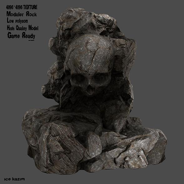skull rock 1 - 3DOcean Item for Sale