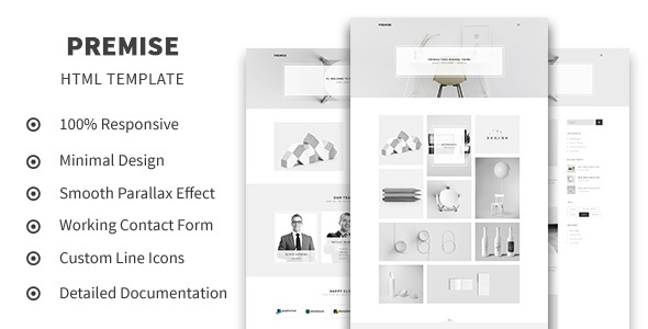 Premise – Creative and Minimal Portfolio HTML5 Template