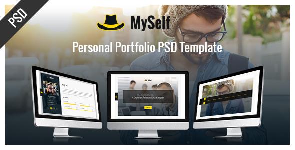 MySelf – Personal Portfolio PSD Template