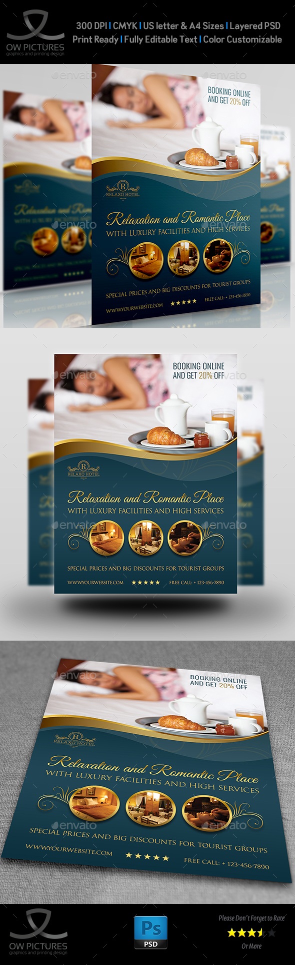Hotel Flyer Template Vol.2 - Commerce Flyers