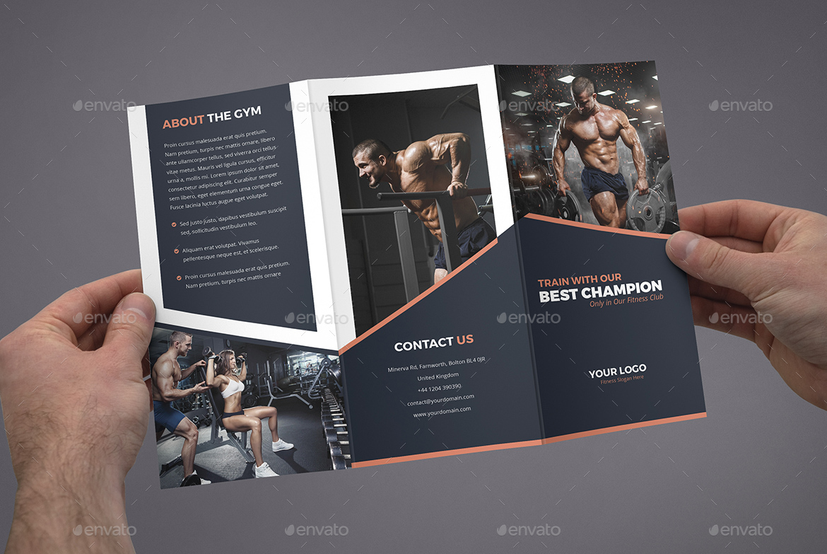 Brochure – Gym Tri-Fold by artbart | GraphicRiver