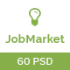 JobMarket - Job Portal PSD Template (Multipurpose) - ThemeForest Item for Sale