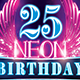 Neon Birthday Party Flyer