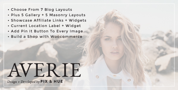 Averie – A Blog & Shop Theme
