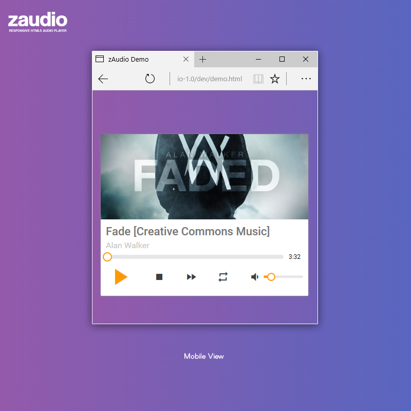 Audio player js download