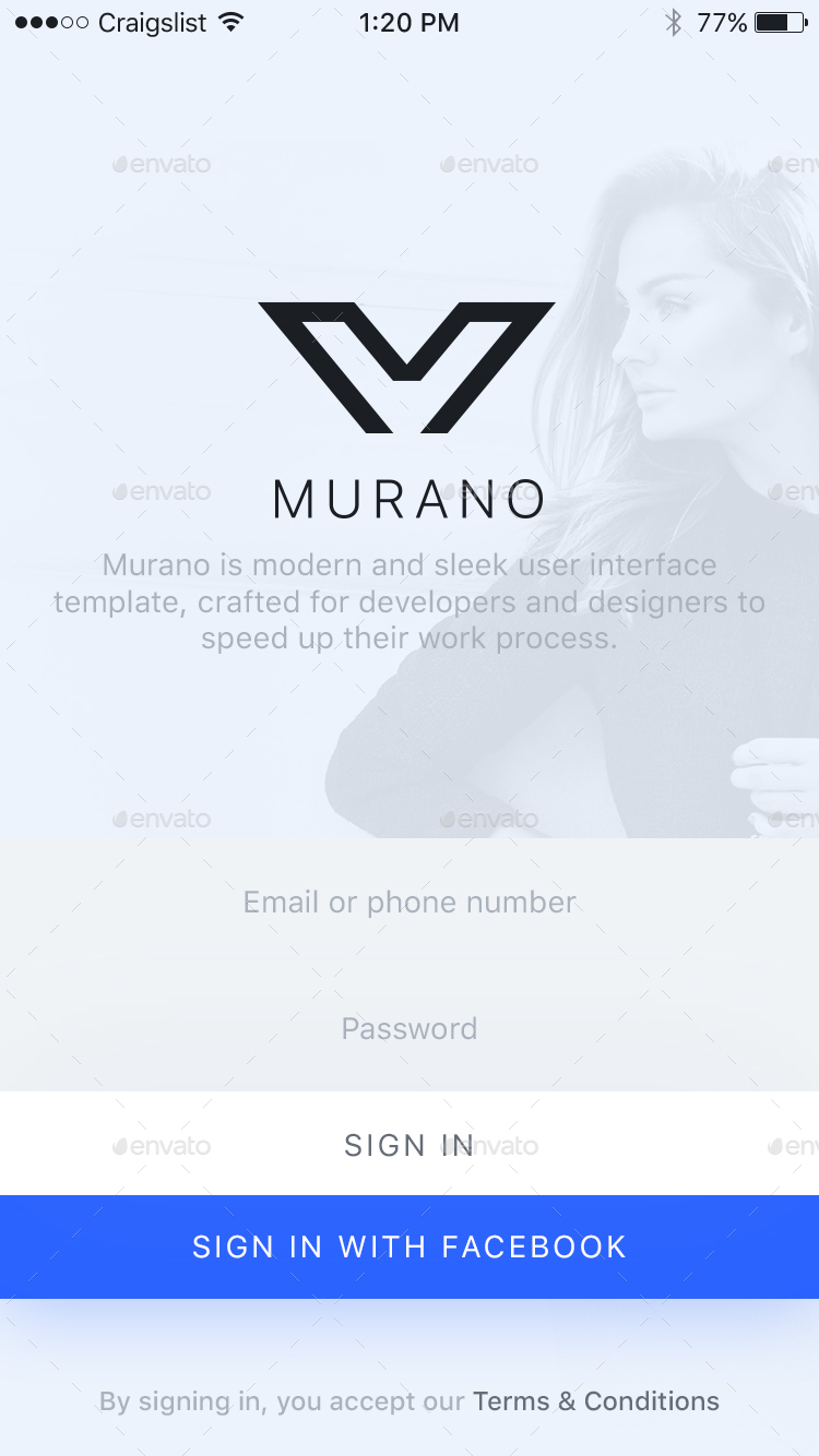 Murano - A Craigslist App For iOS by xrodg | GraphicRiver