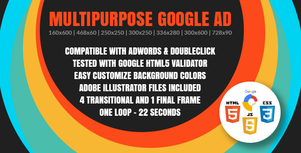 Multipurpose Google Ad - Animated HTML5 Google Banner Templates for AdWords and DoubleClick Studio - CodeCanyon Item for Sale