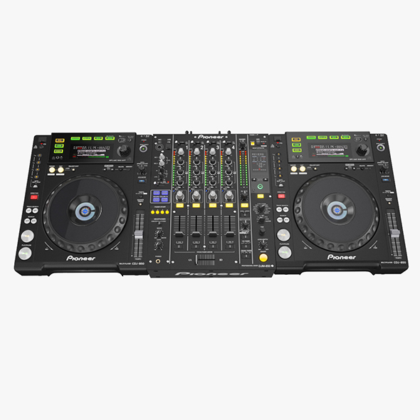 DJ Set Pioneer 850 - 3DOcean Item for Sale