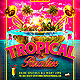 Tropical Paradise Getaway Party Flyer