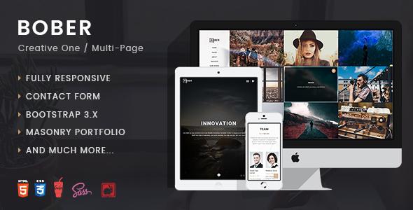 BOBER | Creative Responsive minimalistic HTML Template