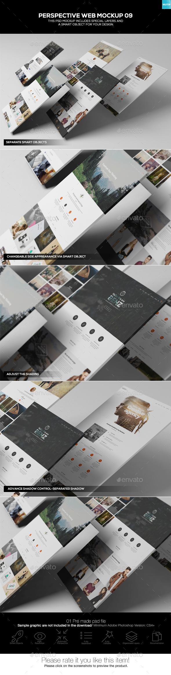Perspective Web Mockup 09 - Website Displays