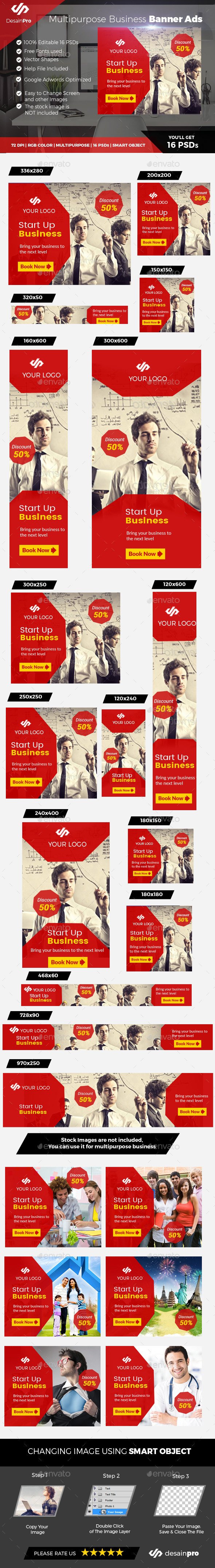 Business Red Banner - Banners & Ads Web Elements