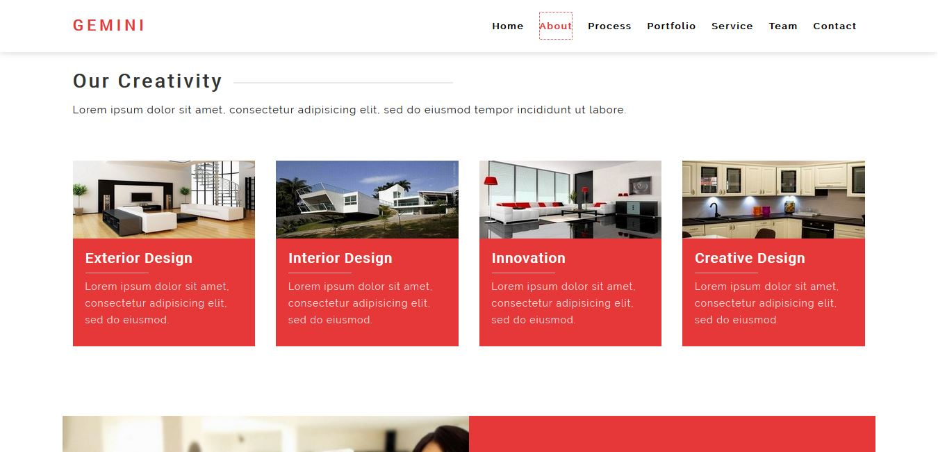 gemini interior and architecture html5 template by creative hunk
