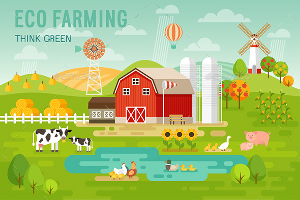 Eco Farming. - Organic Objects Objects