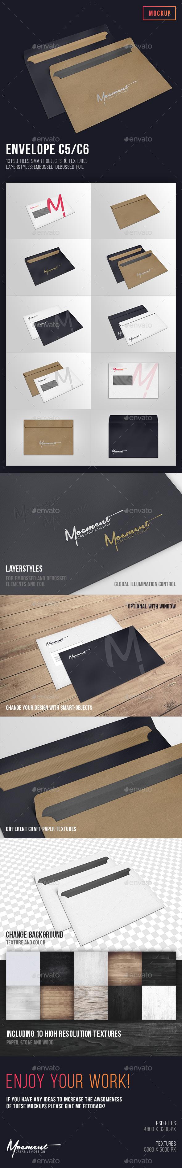 Envelope C5/C6 Mockup - Stationery Print