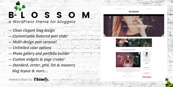 Blossom – A Responsive WordPress Blog Theme