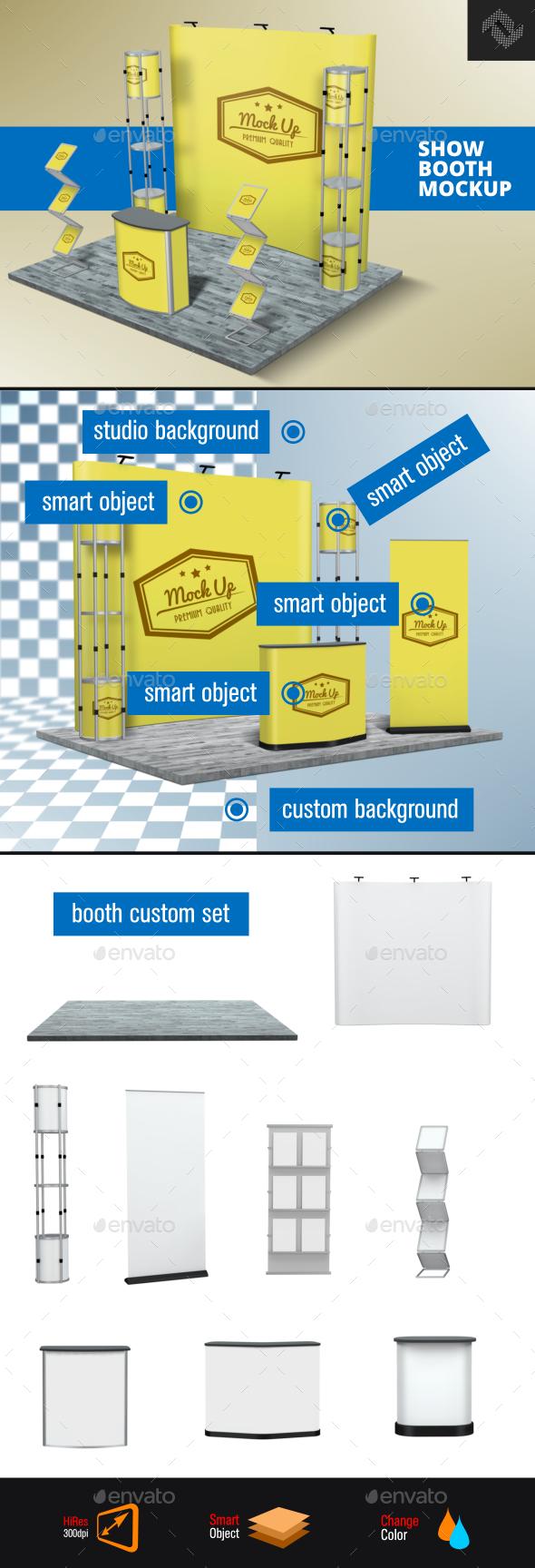 Trade Show Booth Mockup - Product Mock-Ups Graphics