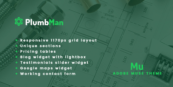 Plumbman – Clean Business Theme for Plumbers, Carpenters or Handymen
