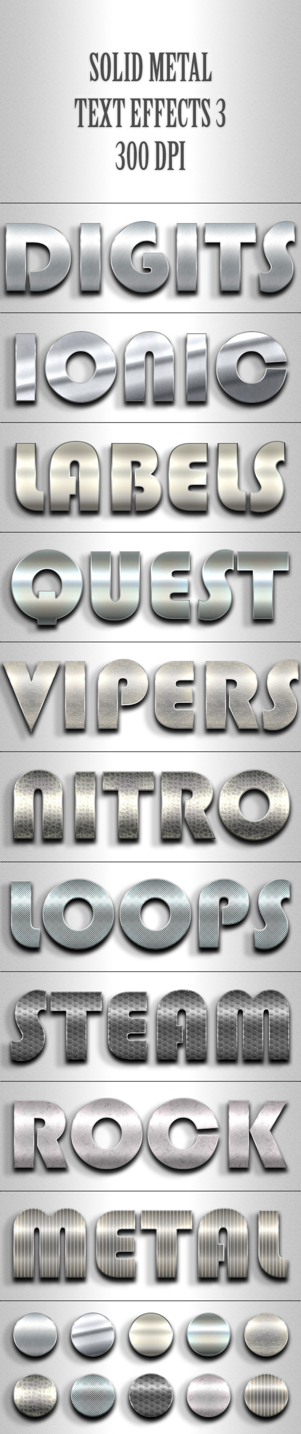 Solid Metal Text Effects 3 - Text Effects Styles