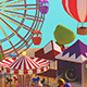 Low Poly Carnival Fair - 3DOcean Item for Sale