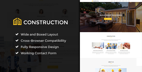 Construction - Ultimate Construction Company Template - Business Corporate