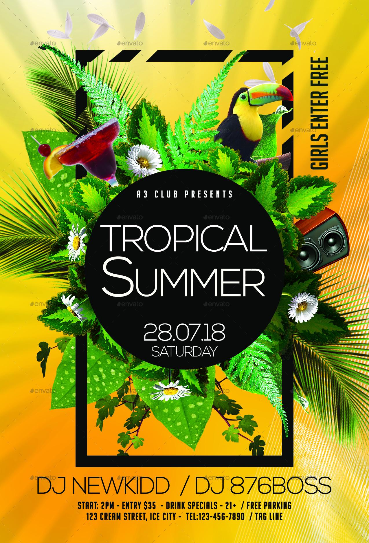 tropical summer flyer by arrow3000