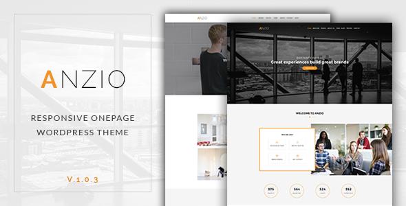 ANZIO - Onepage Parallax Theme - Creative WordPress