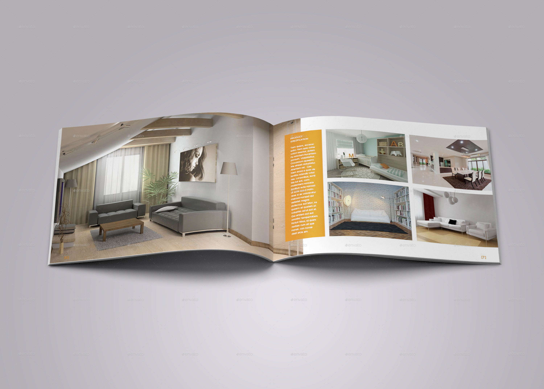 A5 landscape interior brochure by bookrak graphicriver for Interior brochure designs