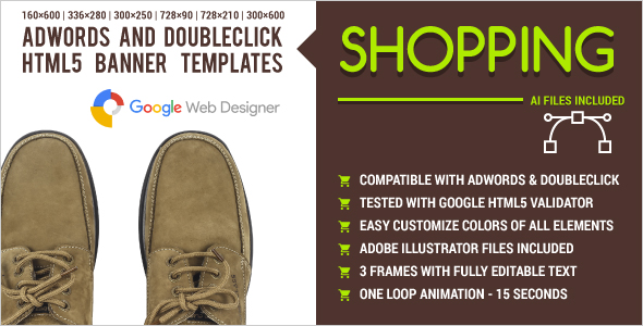 Shopping - AdWords and DoubleClick HTML5 Banner Templates - CodeCanyon Item for Sale