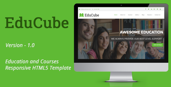 EduCube – Education and Courses Responsive HTML5 Template