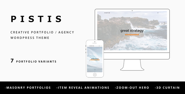 Pistis - Creative Portfolio / Agency WP Theme - Creative WordPress