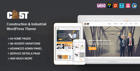 CAST - Construction & Industrial Responsive Corporate HTML5 Template