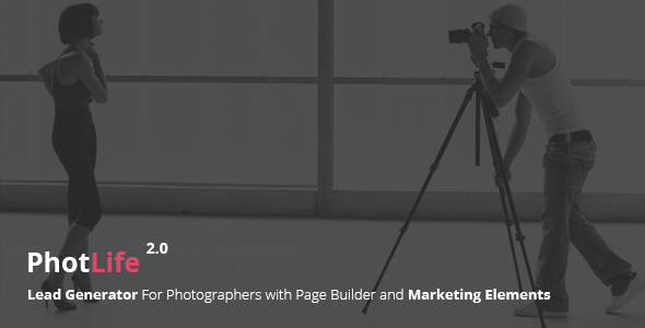 PhotoLife – Lead Generator For Photographers with Page Builder