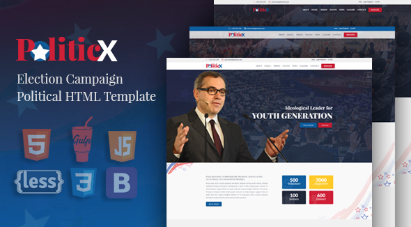 Politicx – Political, Candidate & Election Campaign HTML Template
