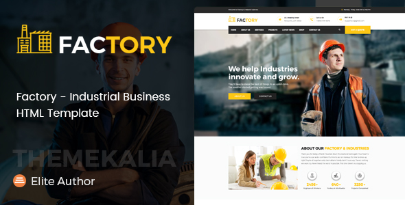 Factory – Industrial Business HTML Template