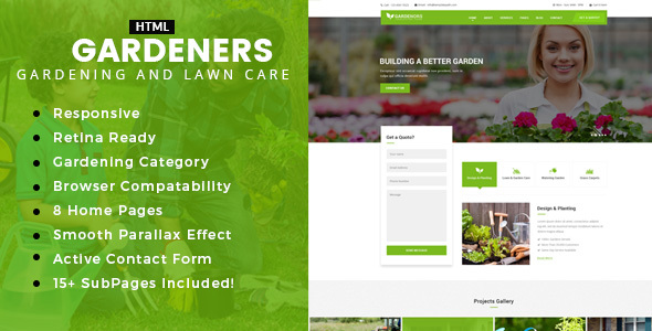 Gardening – Gardening, Lawn Care and Landscaping HTML template