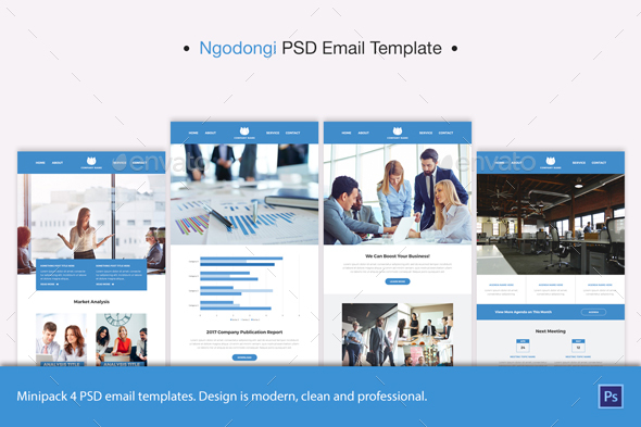 Ngodongi PSD Email Template - E-newsletters Web Elements