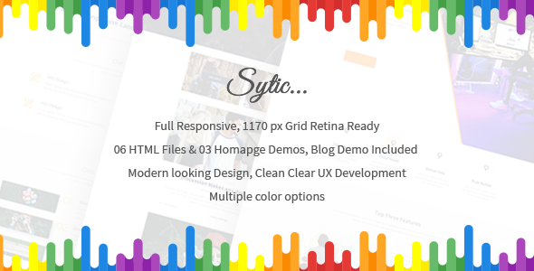 Sytic - One Page Responsive Multipurpose HTML5 Template - Creative Landing Pages