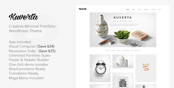 Kuverta - Minimal Portfolio WordPress Theme - Portfolio Creative