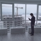Businessman Use Smartphone and Going.