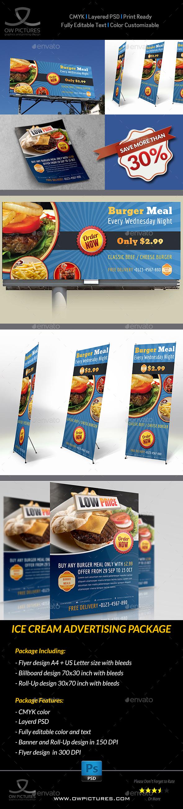 Burger Restaurant Advertising Bundle