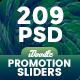 Bundle Promotion Sliders - 209PSD [06 Sets] - GraphicRiver Item for Sale