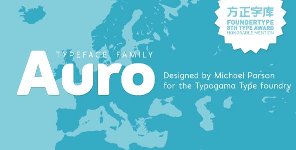 Auro typeface - Sans-Serif Fonts