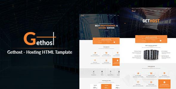 Gethost - Responsive Hosting Template - Hosting Technology